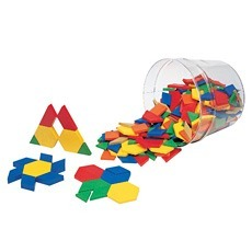 플라스틱 패턴 블록 Plastic Pattern Blocks, 0.5cm (Set of 250)